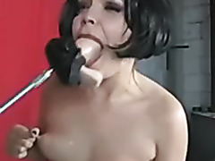 Enjoying homemade BDSM session with my fuck machine