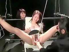 Horny Asian sex slaves satisfy the lust of the master