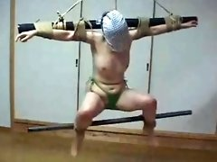 Submissive gets whipping