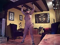 Mature bitch in kinky action