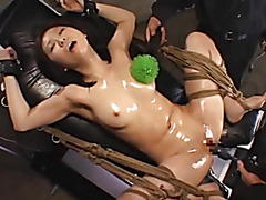 Asian Girl BDSM Dildo Fun