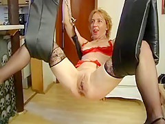 German blonde MILF likes extreme perversions