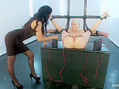 Electric Anal Speculum! Lorelei Lee Submits to Isis Love!!