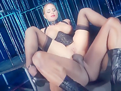 Best pornstar Cathy Heaven in exotic lingerie, blonde sex clip