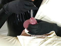 Cum inspection with peehole sound