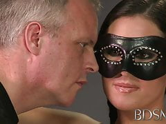 BDSM XXX Bondage Master brings his cute asian sub girl