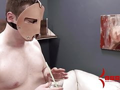 Hard anal punishment for masochist