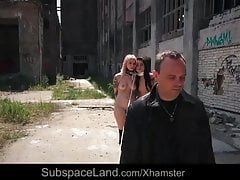 Bondage slaves useless screams of pain from a bdsm factory