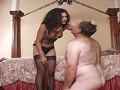 Disciplined by Mistress in Stockings
