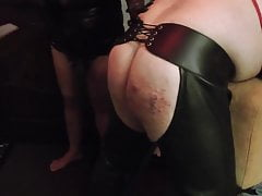 Mistress whips fists & fucks the slut