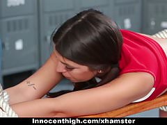 Skinny Cheerleader Tied Up and Fucked By Janitor