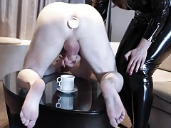 Mistress Humiliation: Milking & Anal Insertion