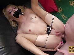 PASCALSSUBSLUTS - Blonde sub April Paisley anally fucked